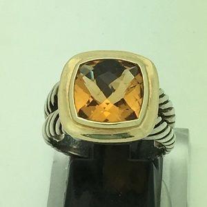 David Yurman Albion citrine ring